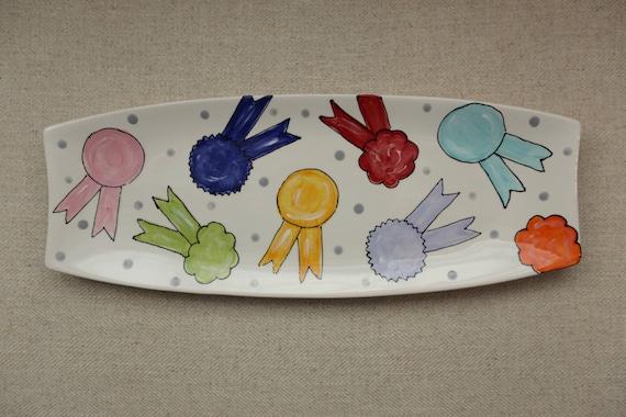 KENTUCKY DERBY platter, Kentucky Derby party, Derby platter, Horse racing platter, Horse ribbon platter