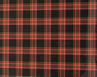 Black, Red, and Green Pattern Vinyl, Plaid HTV and Outdoor Vinyl, Plaid Vinyl, Printed Vinyl, Printed HTV, Christmas Vinyl