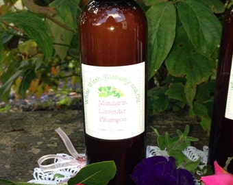 Mandarin Lavender | Organic Shampoo | Essential Oil Blend | Moisturizing Shampoo | Sulfate Free Shampoo | Natural | Dry Hair Shampoo |