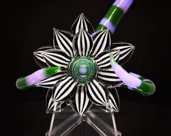 Beetlejuice themed flower pendant/sculpture