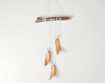 3 Wood Feather Wall Hanging - Driftwood Wall Art - handmade woodland home decor
