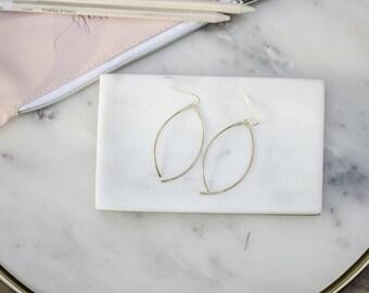 Wish, Hammered Brass Earrings, Handmade