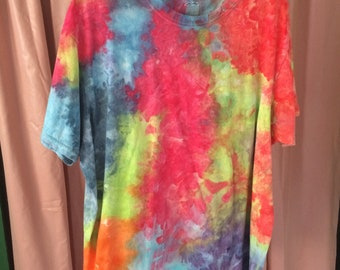 Hand Dyed T-Shirt, Muliticolor Size XL