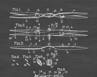 Aeronautical Propeller Patent - Aviation Blueprint, Vintage Aviation Art, Airplane Art, Pilot Gift,  Aircraft Decor, Plane Propeller