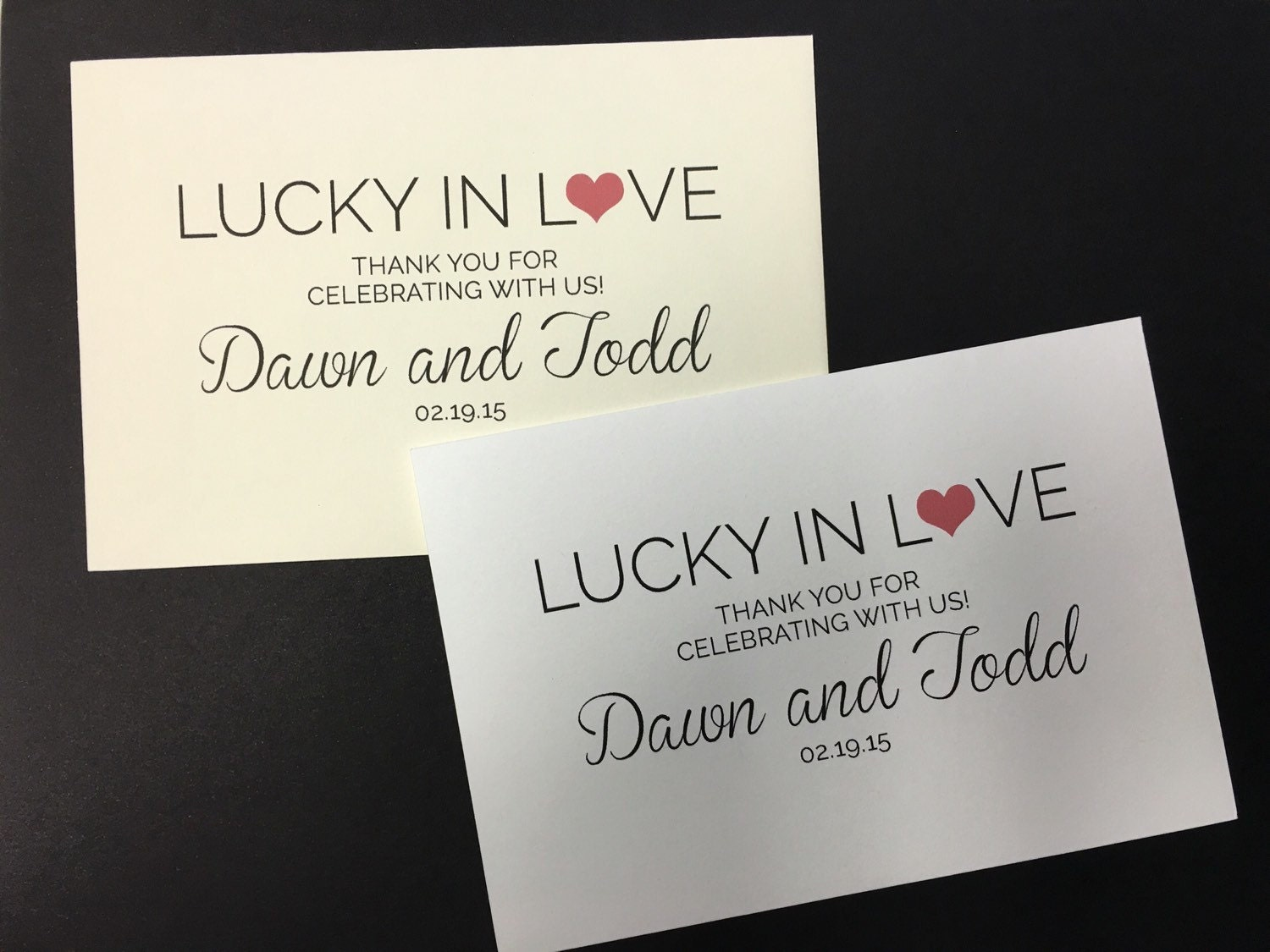 Lucky In Love - Personalized Lottery Ticket Favor Envelope from ...
