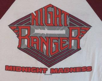 Original NIGHT RANGER 1984 tour T SHIRT