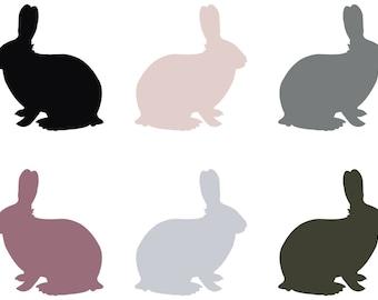 Print Stickers kids room wall art rabbits ref 19