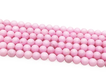 1Full Strand Pink Mountain Jade Round Beads 8mm 10mm Wholesale Gemstone For Jewelry Making