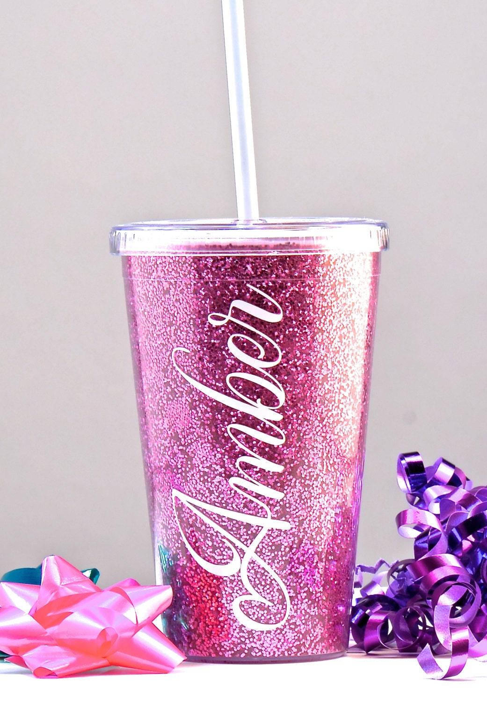 VASO GLITTER vaso de Sparkle personalizado regalo de la Dama