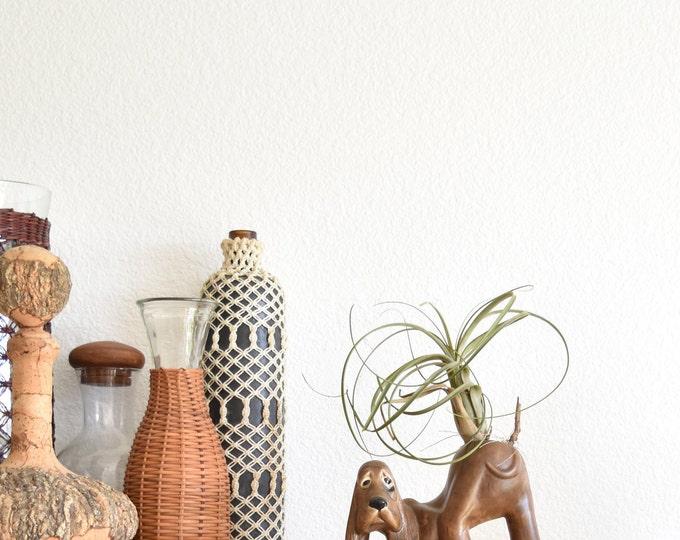 mid century ceramic blood hound dog vase / flower vase
