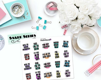 "SNARK SERIES: ""Spoonie Med/Medicine Problems"" Paper Planner Stickers!"
