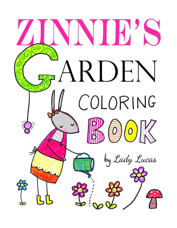 Garden Coloring Book Printable 20 Cute Simple Garden Motif