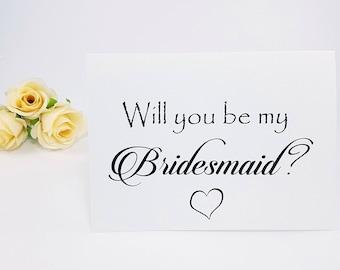 Bridesmaid Proposal Card bridesmaid gift will you be my bridesmaid bridesmaid proposal gift bridesmaid card