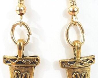 Gold Dagger Sheath Earrings