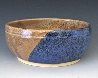 Small Bowl:  Denim Blue, Teal Blue & Sandstone Bowl. Soup. Salad. Rice Bowl.  #1