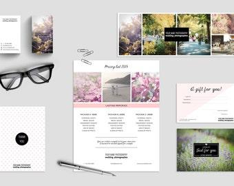 Photographer Marketing Set - Photographer Branding Set - Wedding Photographer - Photographer Business Card - Photographer Price List