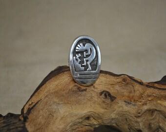 Sterling Silver Kokopelli Ring - Size 7 1/4