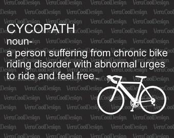 Cycopath Funny Biking Svg Png Dxf Eps Pdf Cricut Silhouette