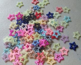 Pearl Star Flatbacks-Assorted Colors-12mm-25 PCS
