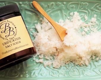 Salt Scrub / Unification Salt polish / Body scrub / Himalayan sea salt / Exfoliating scrub / Body Polish / Natural body scrub / vegan