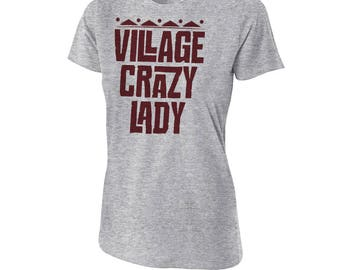 "Moana - ""Village Crazy Lady"" - Moana T-Shirt - Moana Quote T-Shirt - Gray Women's T-Shirt"