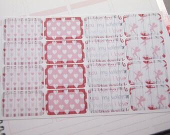 16 Planner Stickers Half Box Valentine Planner Stickers eclp Ps368f Fits Erin Condren