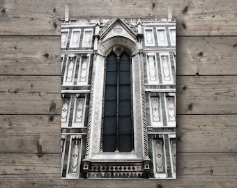 Florence Duomo Window / Florence, Tuscany, Italy / Travel Photography Print / Italian Cathedral Church / Gothic Architecture Wall Art
