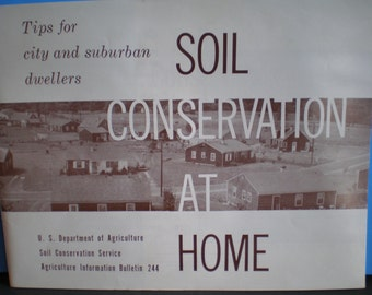 Vintage Mid Century Guide - Tips For City And Suburban Dwellers - Soil Conservation At Home