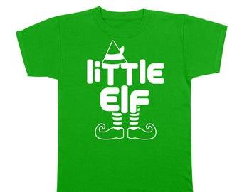 Little Elf Xmas Christmas Holidays Funny Family Santa Youth T-Shirt DT2115