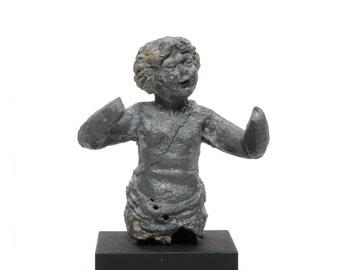 Ancient Roman Lead Figure of an Eros