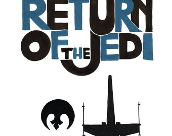 Star Wars Print - The Return of the JEDI - PRINTABLE FILE - Star Wars quote, father and son, starwars saga download