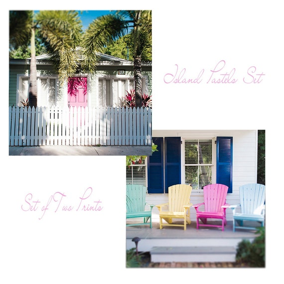 Art, Photos, Island Print Set of 2, Large Wall Art, Pastel Prints, Coastal Home Decor Prints, Door Photography, Print Set, Pastel Art Prints