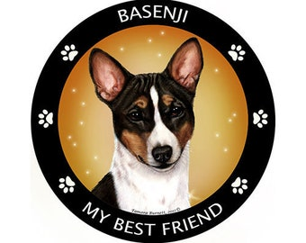 Basenji My Best Friend Dog Magnet