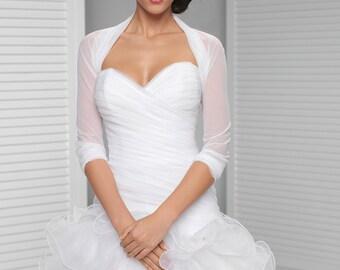 Simple Bridal Cover Up   Simple Bridal Shrug   White, Ivory, Black