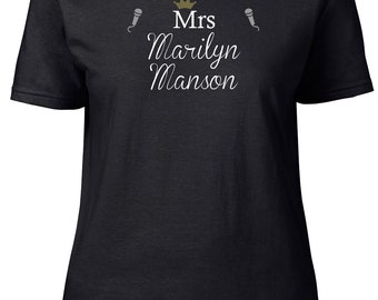 Mrs Marilyn Manson. Ladies semi-fitted t-shirt.