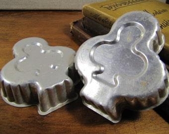 Clover Shaped Aluminum Gelatin Molds - Set of Two (2)
