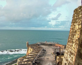 Looking out to sea from El Morro San Juan Puerto Rico