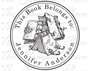 Personalized Custom Stamp - This Book Belongs to - PK221