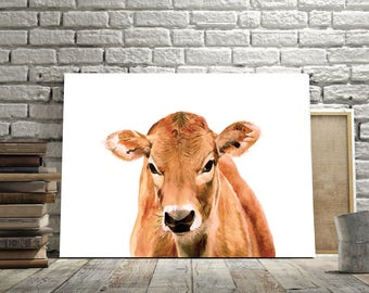Jersey Cow Canvas
