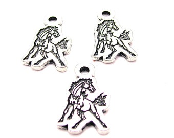 Mustangs mascot logo  charms 3 pieces