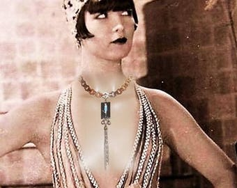 Necklace art deco, 1930's Necklace, modernist necklace, Louise Brooks - CHARLESTON!