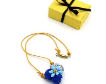 KIDS Fabric Flower Necklace - Choose Color