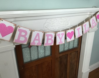 Baby banner, Names banner, Baby photo prop, Baby bunting
