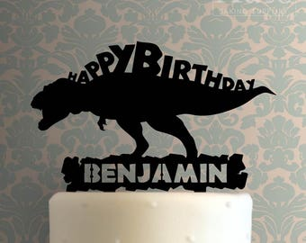 Custom Dinosaur Happy Birthday 101 Cake Topper