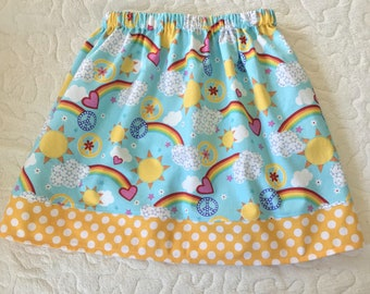 Sunshie and  Rainbows  Skirt (18 mos, 2T, 3T, 4T, 5, 6, 7, 8, 10)