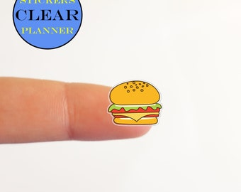 Clear Hamburger Stickers Planner Clear Hamburger Planner Clear Fast Food Stickers Transparent Stickers Fast Food Planner Lunch Stickers i74