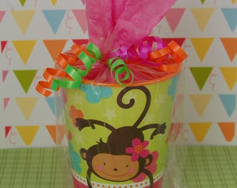 Monkey Pre-Filled Birthday Party Favors - Birthday Goodie Bags - Kids Party Supplies - Character Favors - Monkey Theme Party - Loot Bags