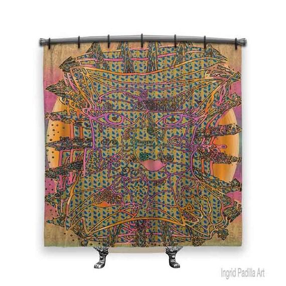BOHO Shower Curtain, Shower curtain, artsy shower curtain, Boho curtain, Funky Shower Curtain, Fabric shower curtain, Boho Chic Decor