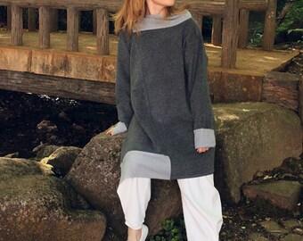 Jumper/ dress/ wool dress/ wool jumper/ winter dress/ Japanese clothing/ asymmetrical/ warm/ winter/ autumn 2016/ women's fashion/ for her