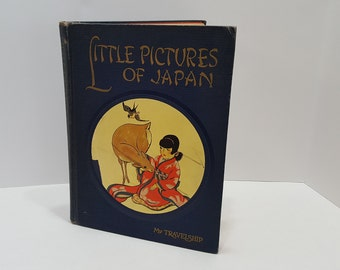 1925 Little Pictures of Japan Hardcover Children's Picture Book
